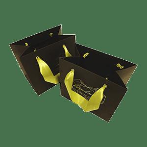 Дизайнерский пакет с атласными лентами